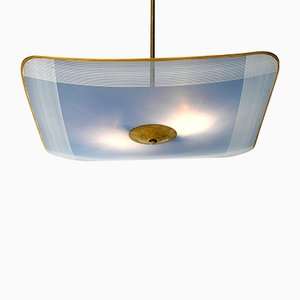 Mid-Century Brass Ceiling Lamp from Doria Leuchten, 1950s