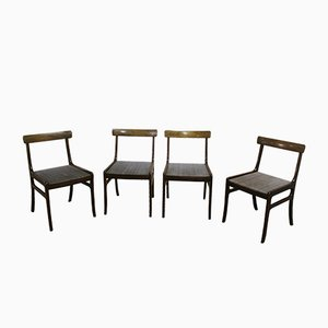 Modell Rungstedlund Esszimmerstühle von Ole Wanscher für Poul Jeppesen Møbelfabrik, 1960er, 4er Set