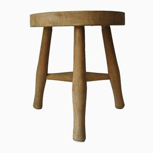 Vintage Wooden Stool from Toledo