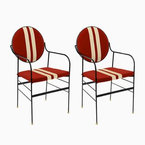 Luigina Black & Red Sport Chairs by Paolo Calcagni for Sotow, Set of 2