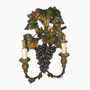 Painted Grape Sconce with Metal and Wood, 1960s