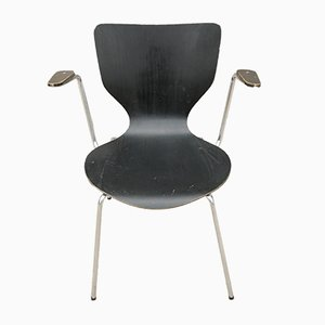 Danish Plywood & Steel Side Chair, 1960s