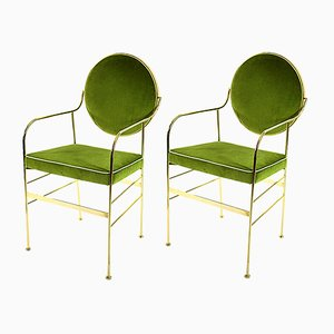Luigina Gold Pea Chairs by Paolo Calcagni for Sotow, Set of 2