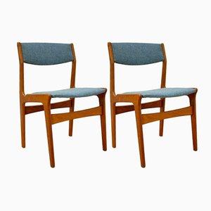 Dänische Mid-Century Esszimmerstühle aus Teak von Nova, 2er Set