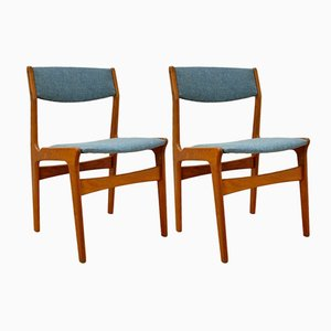Mid-Century Danish Teak Dining Chairs from Nova, Set of 2