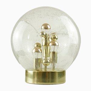 Lampada da tavolo grande Space Age sferica in vetro di Doria Leuchten, anni '70