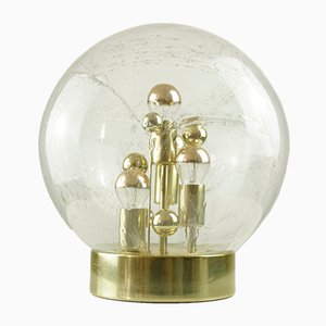 Lámpara de mesa era especial grande con bola de vidrio de Doria Leuchten, años 60