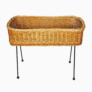 Vintage Wicker Flowerbed, 1970s