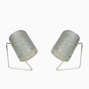 Mid-Century Nickel-Plated Tables Lamps, 1960s, Set of 2