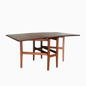 Mid-Century Extending Drop-Leaf Teak Dining Table, 1960s