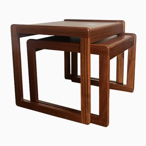 Pair of Vintage Teak Nesting Tables