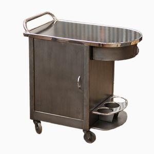 Vintage Industrial Restaurant Serving Cart