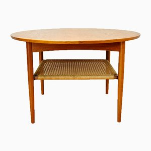 Teak Coffee Table with Cord Shelf from Møbelintarsia, 1950s