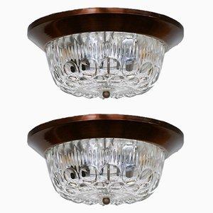 Lampes à Suspension Mid-Century, Italie, 1950s, Set de 2