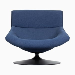 F520 Navy Blue Lounge Chair by Geoffrey Harcourt for Artifort, 1970s