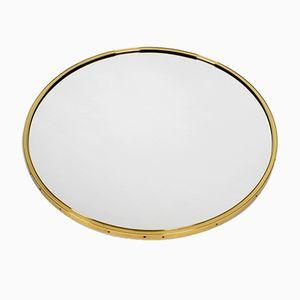 Gold Circular Wall Mirror from Vereinigte Werkstätten, 1950s