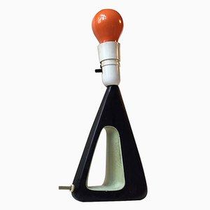Lampe de Bureau Moderniste Noire et Verte de Brown Evans & Co., 1950s