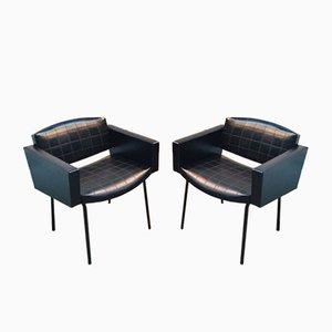 Schwarze Sessel von Pierre Guariche für Meurop, 1961, 2er Set