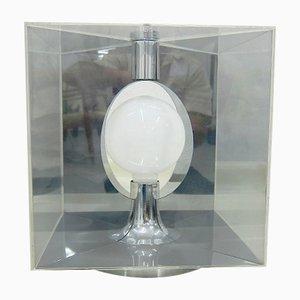 Plexiglas Cube Lamp, 1970s