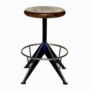 Industrial Atelier Swivel Stool, 1930s