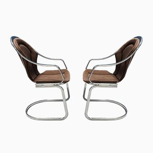 Mid-Century Chrome Chairs, 1970s, Set of 2