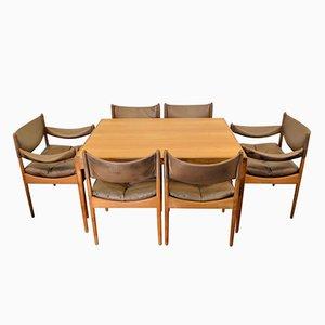 Dänisches Vintage Esszimmer Set aus Eiche von Kristian Vedel für Søren Willadsen Møbelfabrik