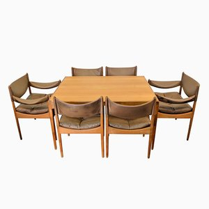 Vintage Danish Design Oak Dining Set by Kristian Vedel for Søren Willadsen Møbelfabrik