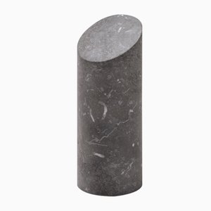 Kilos Cylindrical Bookend in Nero Marquinia Marble by Elisa Ossino for Salvatori