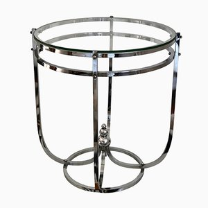 Art Deco Modernist Chrome Side Table, 1930s