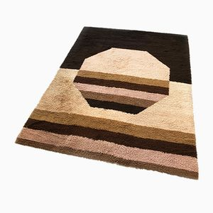 Large Vintage High Pile Cubic Rug from Desso, 1970s