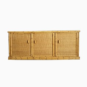 Rattan & Bamboo Sideboard from Arco, 1940s