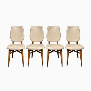 Vintage Belgian Vinyl Dining Chairs, Set of 4