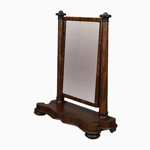 Espejo giratorio antiguo grande de caoba