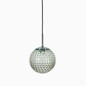 Lámpara colgante con burbuja de vidrio de Motoko Ishii & Rolf Krüger para Staff Lights, años 70