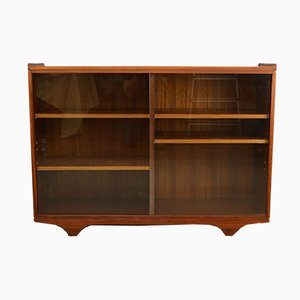 Mid-Century Teak and Glass Display Cabinet/Bookcase from Meredew