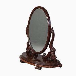 Large Victorian Oval Mirror