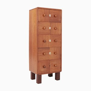 Modernist Bubinga Wood Five-Drawer Chest, 1950s