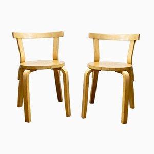 Model 68 Chairs by Alvar Aalto for Artek, 1980s, Set of 2