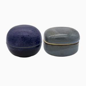 Lidded Boxes by Franco Bucci & Nanni Valentini, 1970s, Set of 2