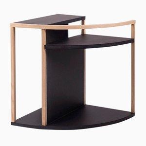 Tavolino Meja in MDF nero e frassino di Studio Nuance