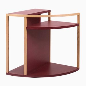 Meja Multi-Purpose Side Table in Red MDF & Ash from Studio Nuance