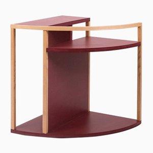 Tavolino Meja in MDF rosso e frassino di Studio Nuance