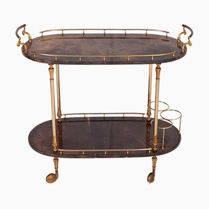 Lacquered Serving Bar Cart by Aldo Tura, 1960s