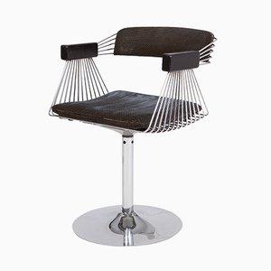 Space Age Chromed Steel Swivel Armchairs by Rudi Verelst, 1970s, Set of 6