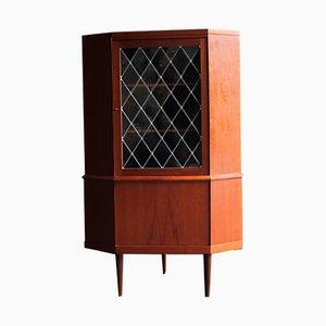 Danish Corner Display Cabinet by Midtjysk Møbelfabrik, 1960s