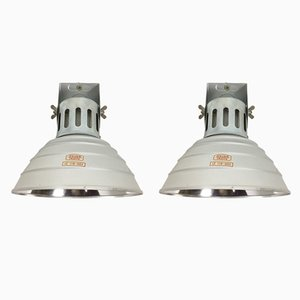 German Industrial Wall Lights from Zeiss Ikon, 1970s, Set of 2