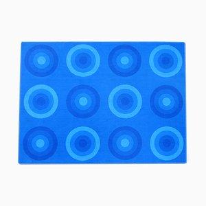 Vintage Teppich mit blauen Kreisen von Verner Panton für Mira-X