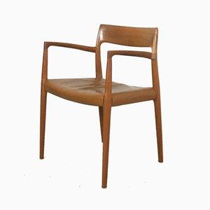 Modell 77 Armlehnstuhl aus Teak von N.O. Møller für J.L. Møllers, 1960er