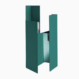 Fugit Vase in Petrol Blue by Matteo Fiorini for Mason Editions
