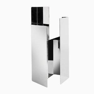 Fugit Vase in glänzendem Nickel von Matteo Fiorini für Mason Editions
